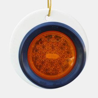 round orange taillight auto part ceramic ornament