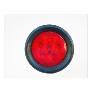 round orange taillight auto part flyer