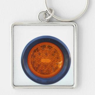 round orange taillight auto part keychain