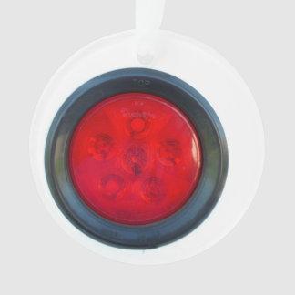 round orange taillight auto part ornament