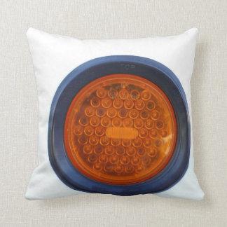 round orange taillight auto part throw pillow