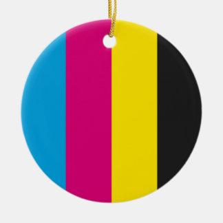 Round ornament CMYK stripes