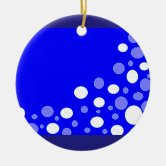 Round Ornament with Floating Bubbles