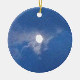 Round Ornament with Photo of Full Moon