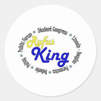 Round Oval Rufus King Debate/Congress/Speech Classic Round Sticker