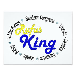 Round Oval Rufus King Debate/Congress/Speech 4.25x5.5 Paper Invitation Card