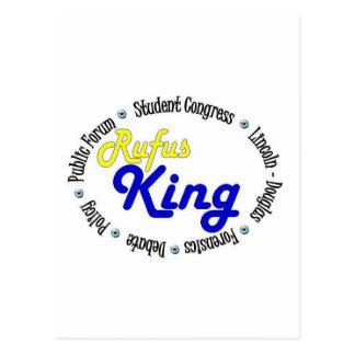 Round Oval Rufus King Debate/Congress/Speech Postcard