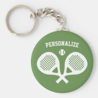 Round padel tennis keychain gift player and fan
