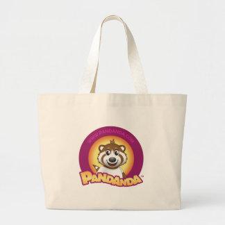 Round Pandanda Logo Large Tote Bag