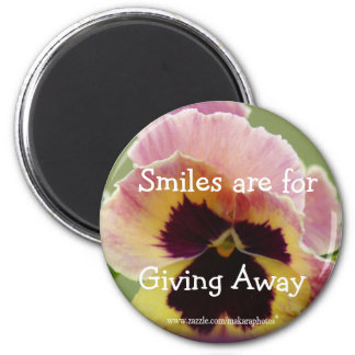 round Pansy Magnet- customize as you wish 2 Inch Round Magnet