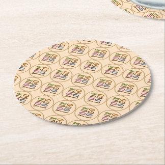 Round Paper Coasters Company Logo Promotional Bulk