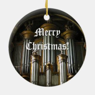 Round Parisian organ Christmas ornament