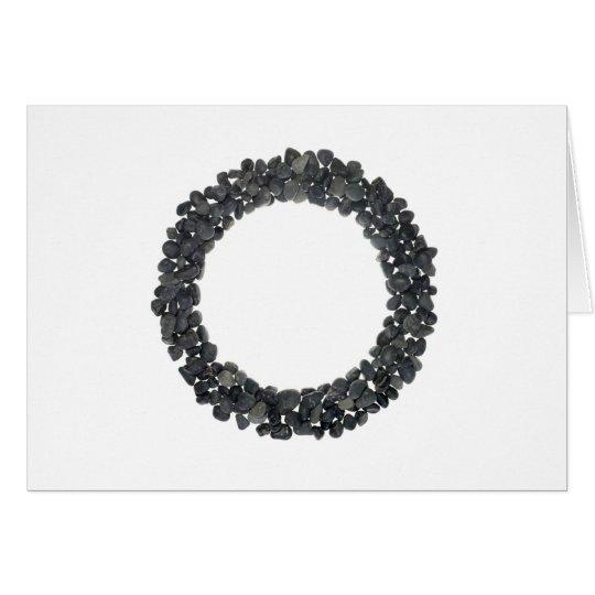 Round pebbles frame card