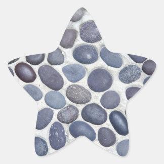 round pebbles star stickers