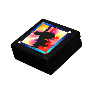 Round Peg in a Square Hole Skateboarder Jewelry Box