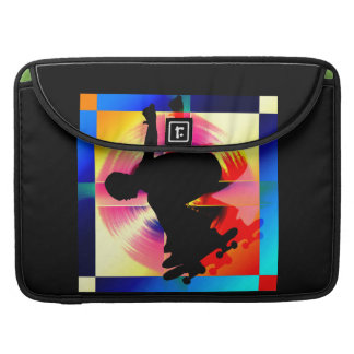 Round Peg in a Square Hole Skateboarder MacBook Pro Sleeve
