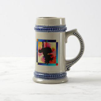 Round Peg in a Square Hole Skateboarding Beer Stein