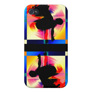 Round Peg in a Square Hole Skateboarding iPhone 4 Case