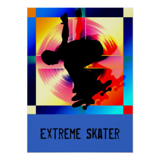 Round Peg in a Square Hole Skateboarding Poster