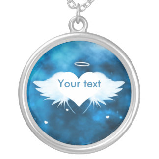 Round Pendant Necklace - Angel of the Heart