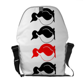 Round Penguin group Courier Bag