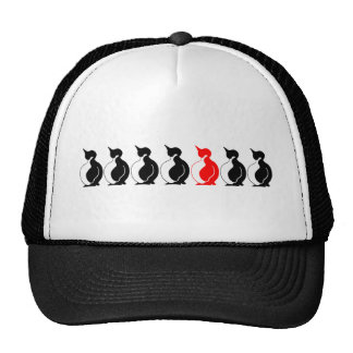 Round Penguin group Hats