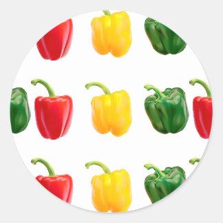 Round Pepper Stickers