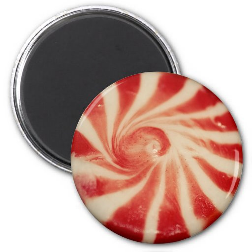 Round Peppermint Candy Magnet