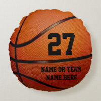 Round PERSONALIZED Basketball Pillows Round Pillow