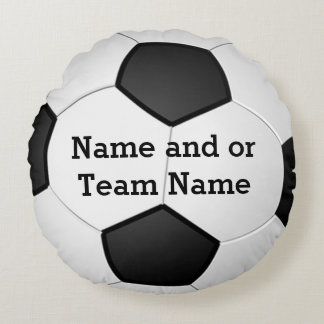 Round PERSONALIZED Soccer Pillows NAME or TEAM