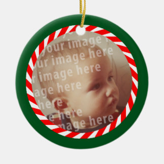 Round Photo Frame Ceramic Ornament