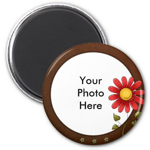 round photo magnet zazzle. Black Bedroom Furniture Sets. Home Design Ideas