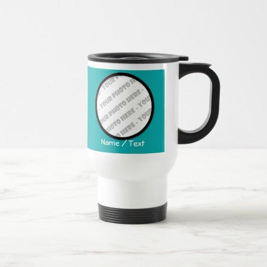 Round Photo & Text Travel Mug - Create Your Own