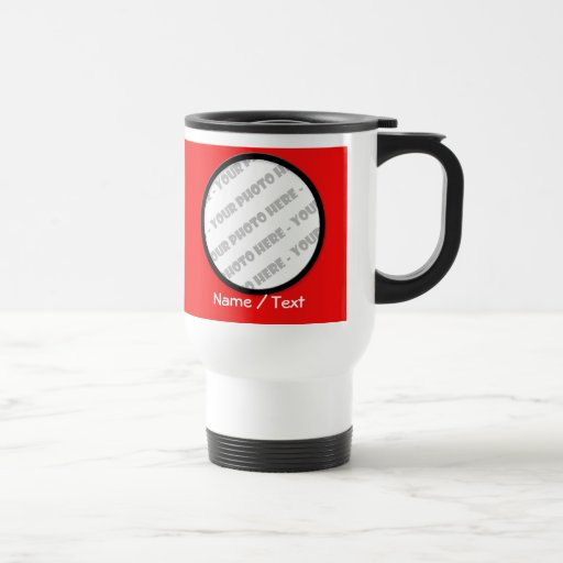 Round Photo & Text Travel Mug - Create Your Own