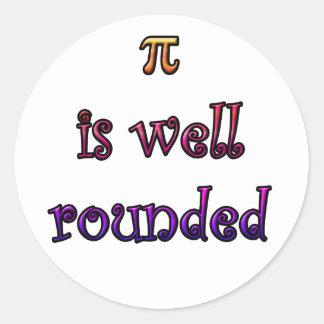 Round Pi Classic Round Sticker