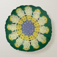 Round Pillow - Daisy pattern