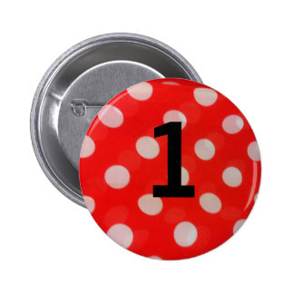 Round pinbutton number 1 pinback button