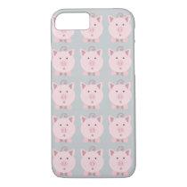Round Pink Pig Pattern iPhone 7 Case