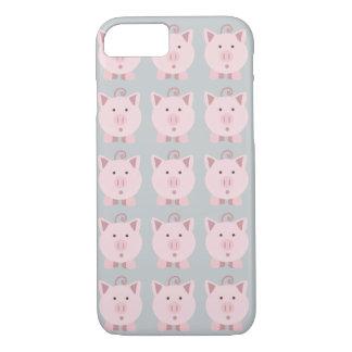 Round Pink Pig Pattern iPhone 8/7 Case