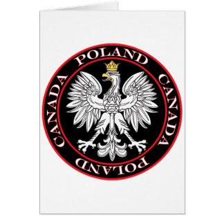Round Poland Canada Eagle Card