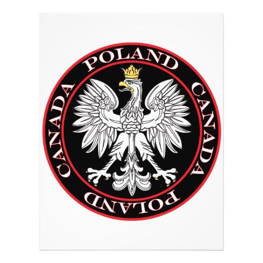 Round Poland Canada Eagle Custom Flyer