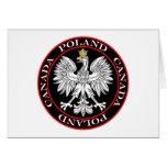 Round Poland Canada Eagle Greeting Cards