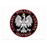 Round Poland Canada Eagle Post Cards
