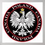 Round Poland Canada Eagle Print