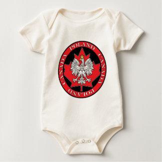 Round Poland Canada Leaf Baby Bodysuit