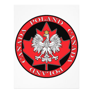 Round Poland Canada Leaf Full Color Flyer