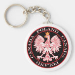 Round Poland Canada Red Eagle Key Chain