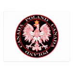 Round Poland Canada Red Eagle Postcard