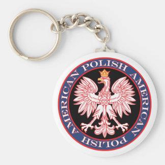 Round Polish American Eagle Key Chain