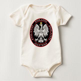 Round Polish Eagle Baby Bodysuit
